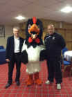 Rocky Rooster of Airdrieonians Football Club